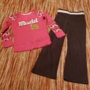 Girls 5 bundle yoga pants tcp Mudd shirt outfit